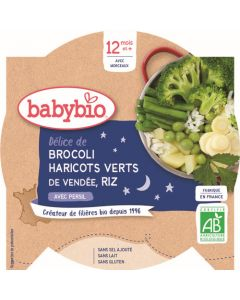 Babybio Brocoli Haricots Verts de Vendée Riz avec Persil dès 12 mois 230g