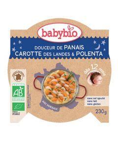 Babybio Assiette Douceur de Panais, Carotte, Riz Biologique dès 12 Mois 230g