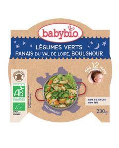 Babybio Assiette Légumes Verts, Panais, Boulghour Biologique dès 12 Mois 230g