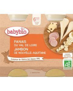 Babybio Panais du Val de Loire Jambon de Nouvelle-Aquitaine dès 6 mois 2x200g
