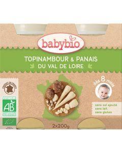 Babybio Petits Pots Topinambour & Panais du Val de Loire Biologique dès 8 Mois 2x200g