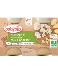 Babybio Chou-Fleur de Bretagne Pomme de Terre dès 6 mois 2x130g