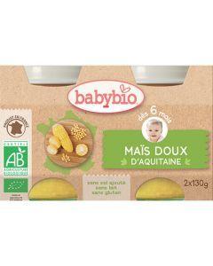 Babybio Petits Pots Maïs Doux d'Aquitaine Biologique dès 6 Mois 2x130g