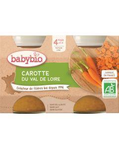 Babybio Carotte du Centre-Val de Loire dès 4 mois 2x130g