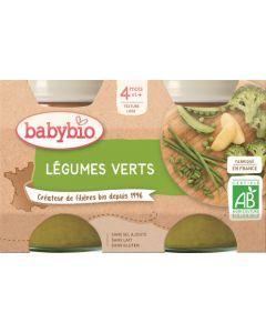 Babybio Légumes Verts dès 4 mois 2x130g