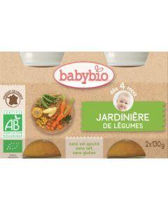 Babybio Petits Pots Jardinière de Légumes Biologique dès 4 Mois 2x130g