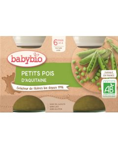 Babybio Petits Pois d'Aquitaine dès 6 mois 2x130g