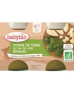 Babybio Pomme de Terre du Centre-Val de Loire & Epinard dès 4 mois 2x130g