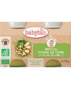 Babybio Petits Pots Brocoli & Pomme de Terre du Val de Loire Biologique dès 6 Mois 2x130g