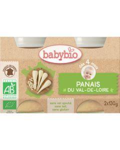 Babybio Petits Pots Panais du Val de Loire Biologique dès 4 Mois 2x130g