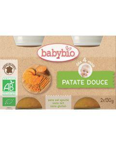 Babybio Petits Pots Patate Douce Biologique dès 4 Mois 2x130g