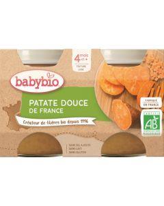Babybio Patate Douce de France dès 4 mois 2x130g