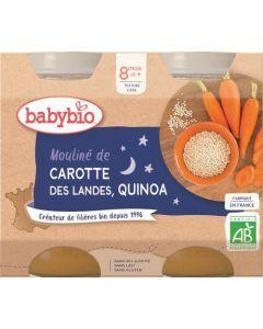 Babybio Mouliné de Carotte des Landes Quinoa dès 8 mois 2x200g