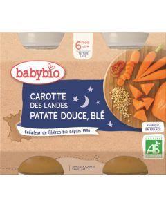 Babybio Carotte des Landes Patate Douce de France Blé dès 6 mois 2x200g