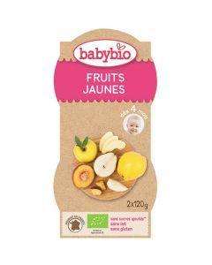 Babybio Bols Fruits Jaunes Biologique dès 4 Mois 2x120g