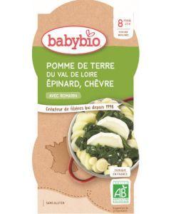 Babybio Pomme de Terre du Val de Loire Epinard Chèvre 2x200g