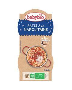 Babybio Bols Pâtes à la Napolitaine Biologique dès 8 Mois 2x200g