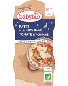 Babybio Pâtes à la Napolitaine Tomate d'Aquitaine dès 8 mois 2x200g