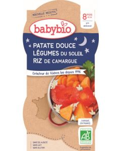 Babybio Patate Douce Légumes du Soleil Riz de Camargue dès 8 mois 2x200g