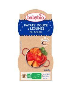 Babybio Bols Patate Douce & Légumes du Soleil Biologique dès 8 Mois 2x200g