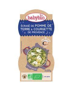 Babybio Bols Écrasé de Pomme de Terre & Courgette Biologique dès 8 Mois 2x200g
