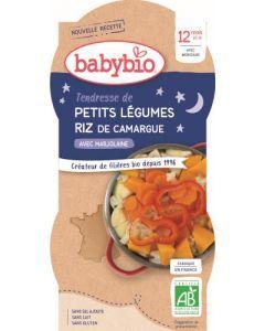 Babybio Petits Légumes Riz de Camargue avec Marjolaine dès 12 mois 2x200g