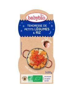Babybio Bols Tendresse de Petits Légumes & Riz Biologique dès 12 Mois 2x200g