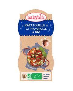 Babybio Bols Ratat1lle à la Provençale & Riz Biologique dès 12 Mois 2x200g