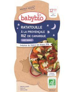 Babybio Ratatouille à la Provençale Riz de Camargue avec Basilic dès 12 mois 2x200g