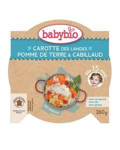 Babybio Assiette Carotte des Landes, Pomme de Terre, Cabillaud Biologique dès 15 Mois 260g