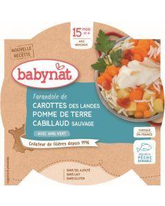 Babybio Carotte des Landes Pomme de Terre Cabillaud Sauvage avec Anis Vert dès 15 mois 260g