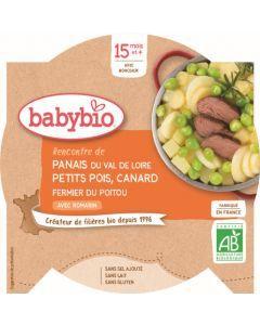 Babybio Panais du Val de Loire Petits Pois Canard Fermier du Poitou avec Romarin dès 15 mois 260g
