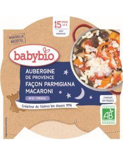 Babybio Aubergine de Provence façon Parmigiana Macaroni avec Origan dès 15 mois 260g