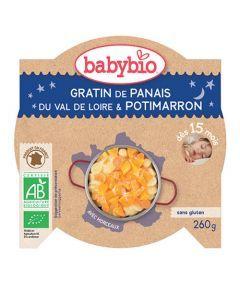 Babybio Assiette Bonne Nuit Gratin de Panais & Potimarron Biologique dès 15 Mois 260g
