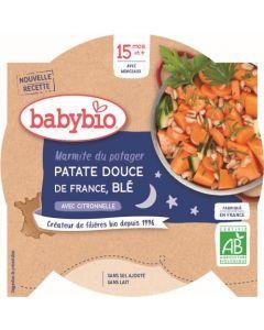 Babybio Marmite du Potager Patate Douce de France Blé avec Citronnelle dès 15 mois 260g