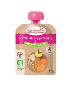 Babybio Gourde Pomme & Patate Douce Biologique dès 6 Mois 90g