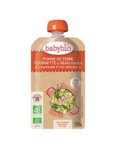 Babybio Gourde Pomme de Terre, Courgette, Veau Biologique dès 6 Mois 120g