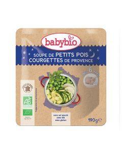 Babybio Sachet Soupe de Petits Pois & Courgette Biologique dès 6 Mois 190g