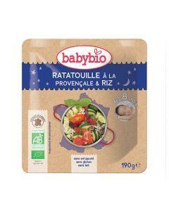 Babybio Sachet Bonne Nuit Ratat1lle à la Provençale & Riz Biologique dès 8 Mois 190g