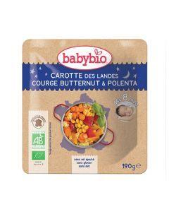 Babybio Sachet Bonne NuIt Carotte, Courge Butternut, Polenta Biologique dès 8 Mois 190g