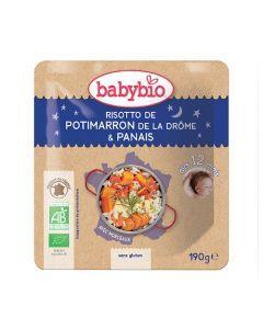 Babybio Sachet Bonne Nuit Risotto de Potimarron & Panais Biologique dès 12 Mois 190g