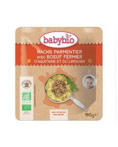 Babybio Sachet Hachis Parmentier avec Bœuf Biologique dès 8 Mois 190g