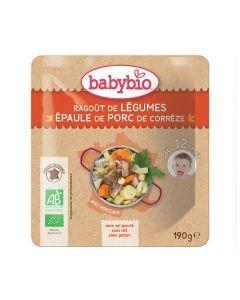 Babybio Sachet Ragoût de Légumes & Porc Biologique dès 12 Mois 190g