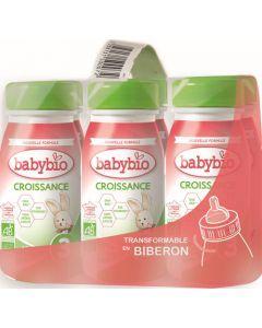 Babybio Croissance Liquide Formule 2020 au Lait de Vache français 6 x 25cl