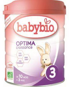Babybio  Optima 3 Croissance de 10 mois à 3 ans 800g