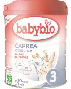 Babybio Caprea 3 Croissance au Lait de Chèvre de 10 mois à 3 ans 800g