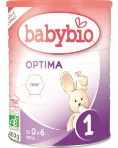 Babybio Optima 1 Formule 2020 Premium au Lait de Vache français 400g