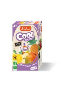 Vitabio Cool Fruits Pomme Mangue Ananas Bio Gourde 12x90g