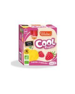 Vitabio Cool Fruits Pomme Framboise Bio Gourde 4x90g