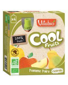 Vitabio Cool Fruits Pomme Poire Bio Gourde 4x90g